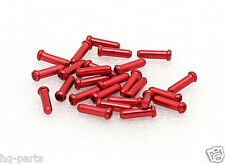 25 Bike Bicycle Shift Brake Cable Ends Tips Caps Crimps RED