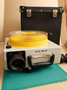 ELMO 253E Carousel Slide Projector, Zoom Lens, Tray & case