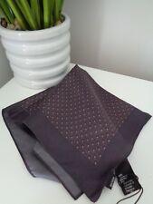 Hugo BOSS dunkelbraun Muster 100% silk pocket square Taschentuch Hankie