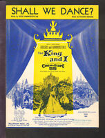 King And I 1956 SHALL WE DANCE Movie Vintage Sheet Music Q22