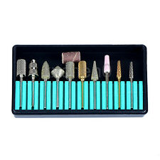 Nail Art Drill Bits Tools Kit 3/32'' For Manicure Pedicure 10Pcs/Pack Assorted