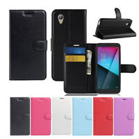 New Premium Leather Wallet PHONE Case TPU Cover For New Vodafone Smart E9 4G