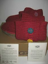 NEW BOX UGG Australia Youth US 5 EUR 35 Women 7 Big Kids Red Cardy II Tall Boots