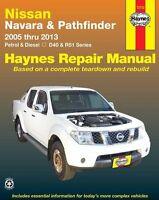 HAYNES WORKSHOP SERVICE REPAIR MANUAL NISSAN NAVARA D40 PATHFINDER R51 2005-2013