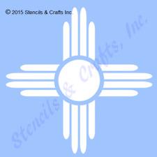"5"" Zia Sun Stencil Western Southwestern Symbol Stencils Template Craft Paint New"