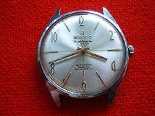 Reloj Pulsera rara De colección Hecho en Suiza Atlántico worldmaster 21 joyas 2