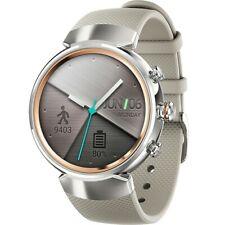 Asus zenwatch 3 - , silver / gold cream silicone strap smartwatch vgc boxed