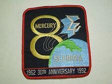 NASA Mercury 8 Sigma 7 Schirra 1962 30th Anniversary 1992 Iron On Patch Large