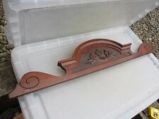 """Vintage Wooden Furniture Finial Back Guard Chair Cupboard Old Top Wardrobe 30""""W"""