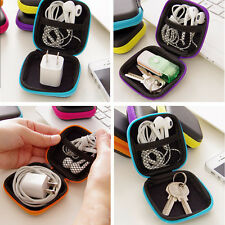 For Earphone Headphone Earbud SD TF Cards Portable Hard Storage Case Pouch Bag