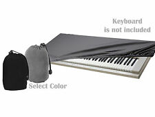 Adjustable Piano Dust Dirt Debris Protective Guard Cloth Top Cover For Keyboards