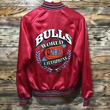 Vintage Chicago Bulls 1991 Chalkline Jacket Mens Size Small Last Dance EUC