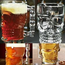 500ml Pirate Beer Mug Crystal Skull Head Glass Cup Mugs For Home Party Drinking