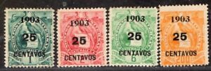 GUATEMALA 1903 STAMP Sc. # 124/6 AND 130 MH