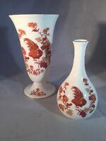 WEDGWOOD bone china GOLDEN COCKEREL 2 Vases
