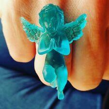 Unique TURQUOISE CHERUB RING heaven CELESTIAL handmade ANGEL blue ADJUSTABLE
