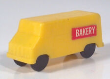 "Vintage Bakery Delivery Van 2"" Plastic Scale Model Yellow"