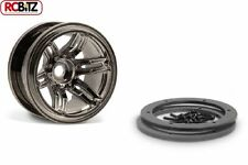 2.2 Rockster Beadlocks Scaler crawler Wheels 12mm Hex BLACK Chrome Wraith AX8095