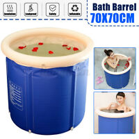 Portable Bathtub Folding Soaking Bath Tub Barrel Bathing Spa 120-150L 7