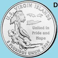 2009 D Virgin Islands Quarter VI DC US Territory State Island ~ UNC  2nd