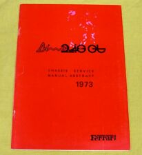 Ferrari Dino 246GT/GTS - USA Emissions System VERY RARE Technical Manual 1973