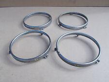 BMW E3 E12 E21 E24 E30 Headlight Set of 4 GLASS HOLDING FRAMES 8750256 DAMAGED
