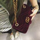 Women Handbag Luxury Designer Velvet Waves Flap Bag Chain Crossbody Bags New Hot