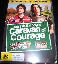 Hamish and Andy's Caravan Of Courahe UK / USA (Aust Reg 4) 2 DVD - Like New