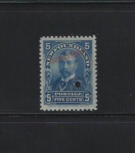 NEWFOUNDLAND - #85S - 5c KING GEORGE V RED SPECIMEN OVERPRINT MINT STAMP MNH