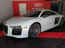 Audi Rings & Quattro Logo Combo Brushed Silver Garage Signs combo