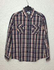 Paper Denim & Cloth Men's Cotton Plaid Shirt, Size L