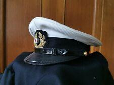 eine originale Schirmmütze der Kriegsmarine, weiß, mit Bezug, 2WK WW2 neuwertig!