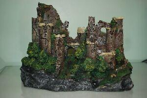 Stunning Detailed Aquarium Rustic Castle Ruin 29 x 14 x 20 cms