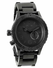 Nixon A035001 42-20 Tide Lefty Divers Rotating Bezel Black Stainless Mens Watch