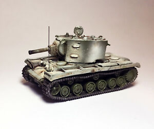 1/144 WWII Soviet Heavy Tank KV-II (KV-2 / Kliment Voroshilov tank) Metal Troops