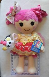 NEW Build A Bear Lalaloopsy Crumbs Sugar Cookie Doll, Dress, Hair Bow, Mouse NWT