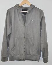 Obey Hooded Jacket Size Medium M Gray Zip up textured design