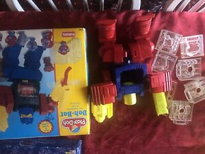 1996 Play Doh Bot Toy Robot by Playskool Vintage Toy Transformers Open Box Used