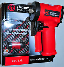 "Chicago Pneumatic CP7732 1/2"" stubby impact Wrench 4.4"" long 2.8 Lb 450 Ft-lbs"