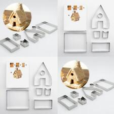 1Set Cutter Christmas Gingerbread House Cookie Biscuit Cutter Set Mold Mould New