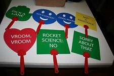 Road Raves: Lot of 7 Message Sticks for Use While Driving in Car, 14 Messsages