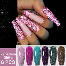 6pcs/set UR SUGAR Reflective Glitter Gel Nagellack Super Shine Nägel Gel Set