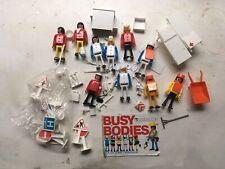 Playcraft Mettoy Busy Bodies 10 Figure Bundle Hospital Workmen 1970s Vintage