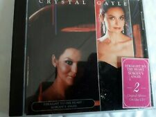 CRYSTAL GAYLE  STRAIGHT TO THE HEART / NOBODYS ANGELS CD 2 COMPLETE ALBUMS CRY