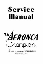 AERONCA MODEL 7A CHAMPION SERVICE REPAIR MANUAL HISTORIC ARCHIVE  rare 1940's
