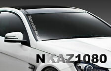 Mercedes Benz windshield Vinyl Decal Sport car Racing sticker emblem logo WHITE