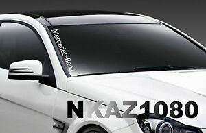 Mercedes Benz windshield Vinyl Decal Sport car Racing sticker emblem logo WHITE