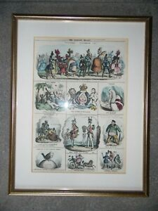 Satirical Caricatures The Looking Glass 1830 William Heath
