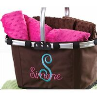 Personalized Folding Market Tote - Picnic Sports Shopping Monogram Embroidery