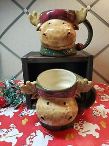St Nicholas Square HEARTLAND Large Moose Mugs set of 2